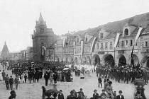 Domažlické náměstí 28. 10. 1918.