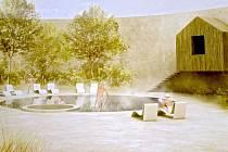 Návrh Wellness centra v Meclově.