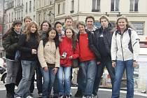 Gymnazisté, kteří se zúčastnili výměnného pobytu.