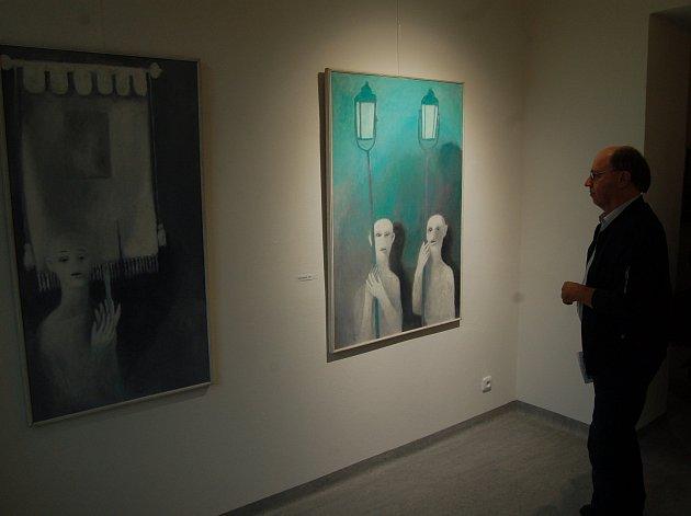 Vernisáž výstavy Vladimíra Komárka v domažlické Galerii bratří Špillarů.