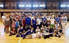 Snímek ze závěrečné akce sezony mladých basketbalistů Basketbal Jiskra Domažlice.
