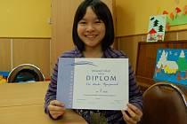 THI HANH NGUYENOVÁ zvítězila ve 2. kategorii soutěže, do které byli zařazeni žáci 8. a 9. tříd.