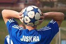 Z utkání fotbalistů Jiskry Domažlice - ilustrační snímek.