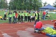 OKRESNÍ KOLO letošního ročníku  hasičské hry Plamen probíhalo celou sobotu v Domažlicích na místním stadionu Jiskry.