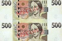 Bankovka 500 Kč.