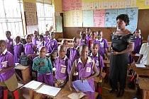 Škola v Nakualabyi v Ugandě