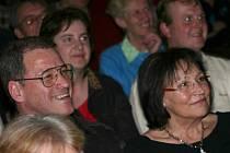 Marta Kubišová i Milan Hein se během představení výborně bavili.