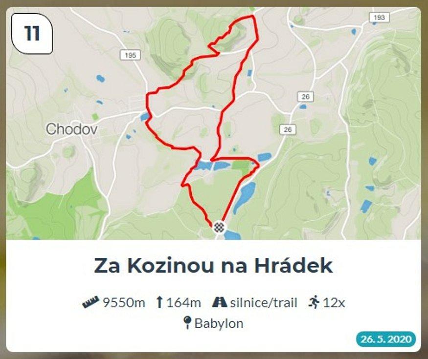 Běžci Chodska sobě: Trasa 11 - Za Kozinou na Hrádek.