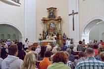 Mše v kostele svaté Anny na Tanaberku.