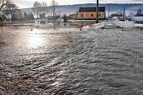 Povodeň v Semošicích.