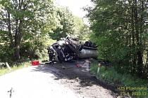 Dopravní nehoda na Domažlicku