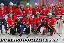 Hokejisté AHC Retro Domažlice.