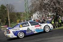 Posádka Jan Štěpánek a Marek Omelka s vozem Škoda Octavia WRC meclovského Profiko rally teamu obsadila po velkém boji druhé místo při víkendové Thermica Rally Lužické Hory.