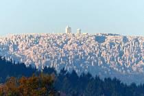Čerchov při Novoročním výstupu nebyl zdaleka tak malebný, jako poslední říjnový den roku 2012 ráno.