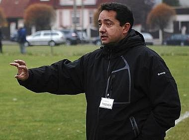 Trenér Alexandr Fečo.