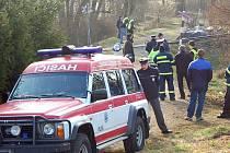 Nehoda na železničním přejezdu v Hostouni