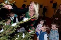 Z vánoční besídky v trhanovském zámku.