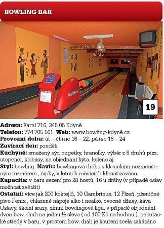Bowling bar.