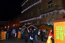Z vánočních trhů a domažlického náměstí.