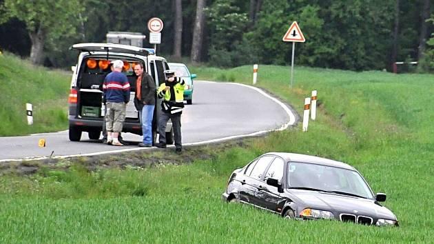 Nehoda nad Domažlicemi z odpoledne 12. května.