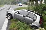 Naštěstí utrpěla jen lehká zranění. Škoda na voze je však za 40 tisíc korun.