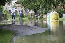 Velká voda v Horšovském Týně.
