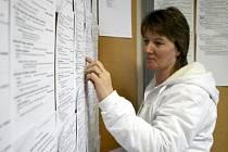 Propouštění zvedlo zájem o nabídku zaměstnání na pracovním úřadu v Domažlicích