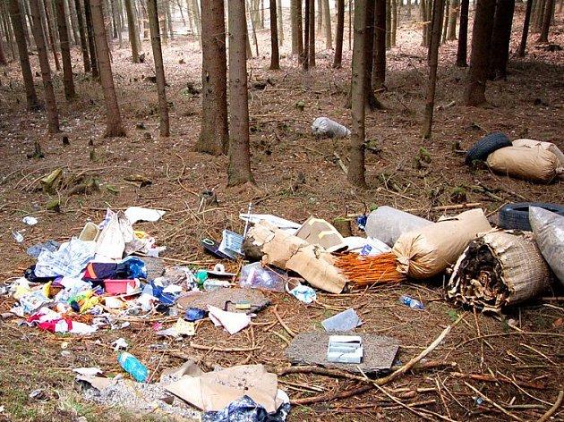 I takovým způsobem se dokáží někteří lidé zachovat k přírodě. Však on to někdo uklidí.