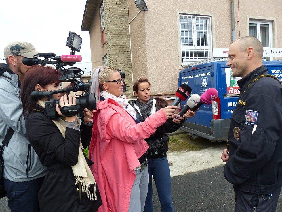 Psovod František Kohout odpovídal na otázky několika médií.