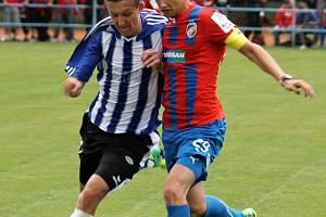 Přípravný zápas třetiligové Jiskry Domažlice s účastníkem Ligy mistrů, Viktorií Plzeň.