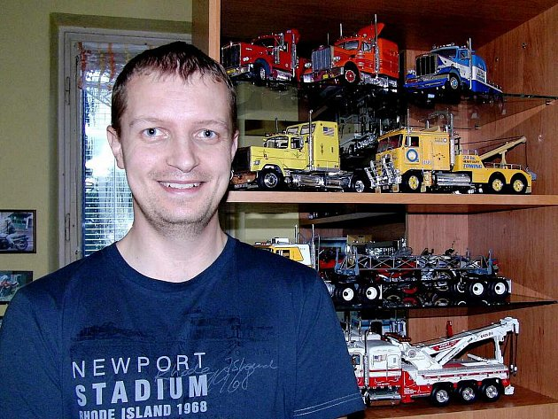 RICHARD THOMAYER. Kamionům přišel na chuť už jako kluk a záliba stavět si jejich modely mu vydržela až do současnosti.