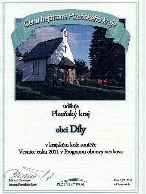 Cena hejtmana Milana Chovance pro Díly.