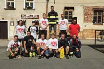Soutěžící hasiči v Poběžovicích.