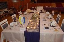 Vítězná tabule z regionální soutěže ve stolování v Domažlicích