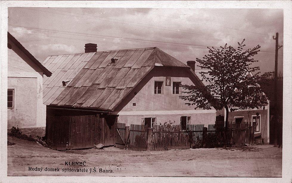 Rodný dům Jindřicha Šimona Baara, který zasáhlo bombardování během druhé světové války.