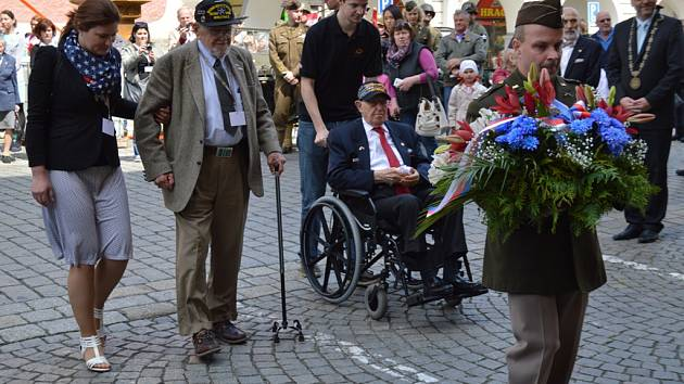Z oslav osvobození v Domažlicích.