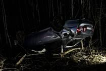 Havárie osobního auta mezi Březím a Horšovským Týnem