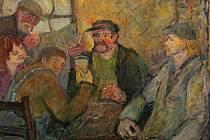 Domažlická Kovárna na obrazech malířky Doris Windlin.