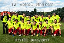 Vzadu zleva: vedoucí týmu M. Hruška, O. Korba, V. Vojtko, J. Dufek, L. Čermák, P. Vondraš, V. Duffek, trenér V. Duffek a Z. Kůgl. Vpředu zleva: J. Stýskal, T. Kopecký, P. Váchal, M. Smazal, P. Michálek, kapitán M. Růžek, M. Kabourek a T. Duffek.