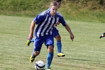 Fotbalista Zdeněk Štěpán v dresu Jiskry Domažlice.