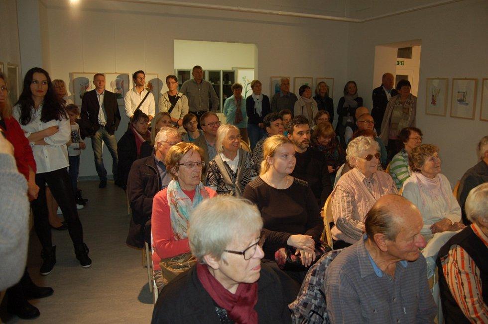 Vernisáž výstavy Pii Mühlbauer v domažlické Galerii bratří Špillarů.