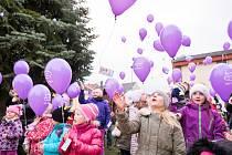 Vypouštění balónků v Kolovči.