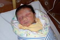 MICHAL VEKOŇ  přišel na svět v domažlické porodnici v pondělí 9. října.