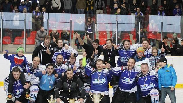 Vítězové Domažlické NHL sezony 2013/2014 Ice Barons Waldmünchen.