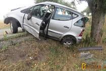 Řidička utrpěla jen lehká zranění.