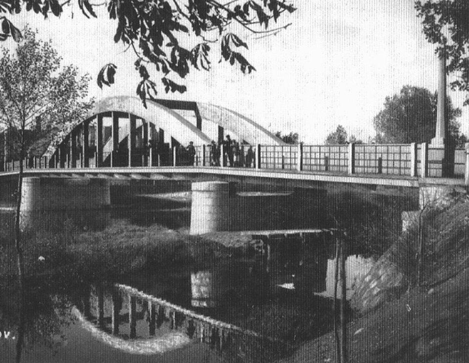 Most ve Staňkově postavený v letech 1920 až 1921.