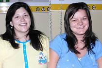 V porodnici jsme hovořili s budoucími maminkami (zleva) Marií Kunešovou a Pavlou Fröhlichovou.