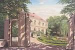 Obraz kanického zámku,který Rudolf von Perger věnoval Bohuslavu Čížkovi, svému zahradníkovi.
