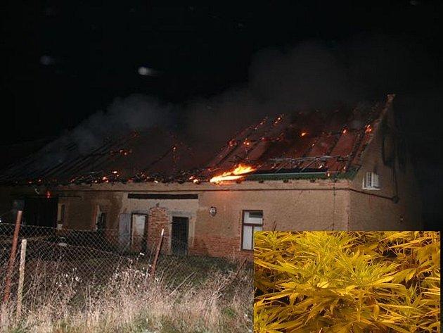 Policisté nalezli na místě požáru ve Lštění konopí.