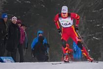Luděk Šeller vybojoval ve sprintu stříbrnou medaili.